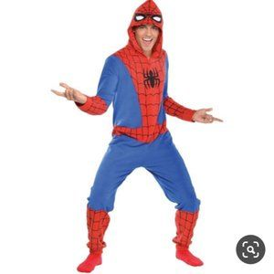 SPIDERMAN ONE PIECE PAJAMAS MENS ONESIE MARVEL